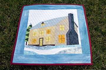 Winter Cottage Colonial House Quilt Pattern