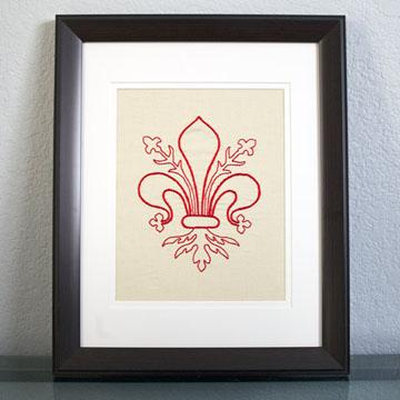 Fleur de Lis Embroidery Pattern