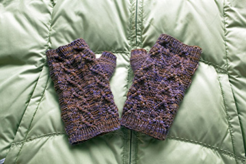 Nettle Mitts in Purple