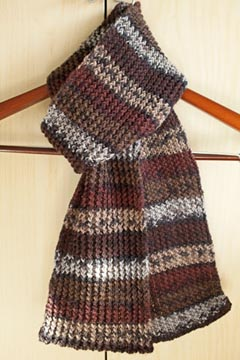 Rick Rack Knitting Stitch Scarf