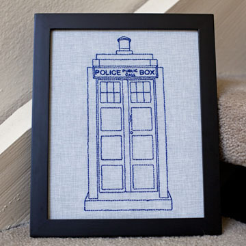 Tardis Embroidery Pattern