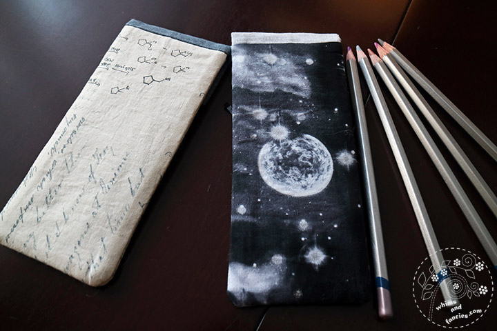 Pencil Cases With Adjustable Flap – Tutorial | Whims And Fancies