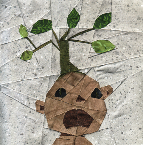 Harry Potter Paper Piecing Mandrake