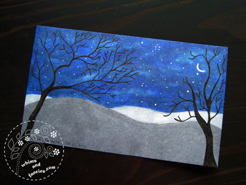 icad 2015 - Night Sky Painting | Whims And Fancies