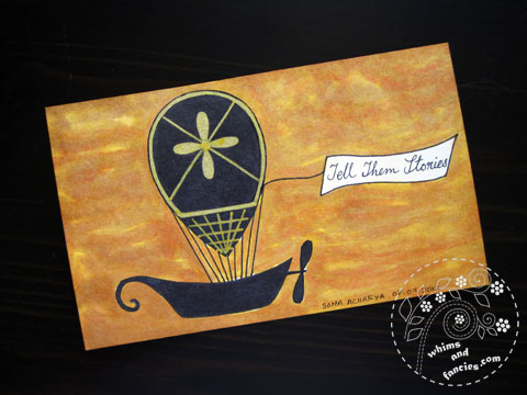 icad 2015 - Steampunk Hot Air Balloon Painting | Whims And Fancies