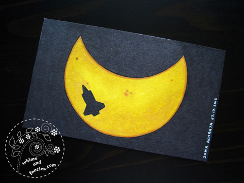 icad 2015 - Solar Eclipse And Shuttle Endeavour Painting | Whims And Fancies
