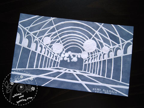 icad 2015 - Paper Cutting Tunnel Painting | Whims And Fancies