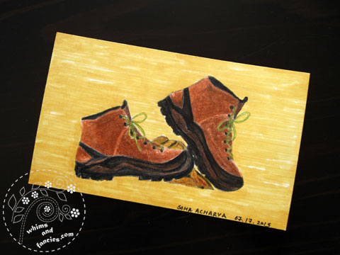 Icad 2015 - My Hiking Boots Painting | Whims And Fancies