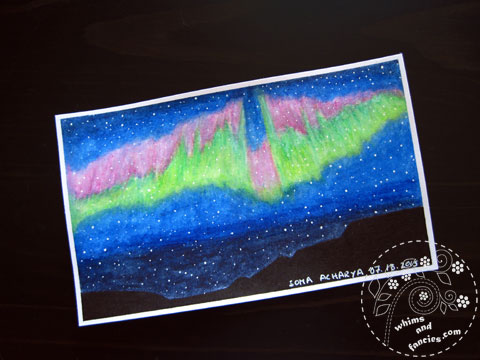 Icad 2015 - Northern Lights Painting | Whims And Fancies