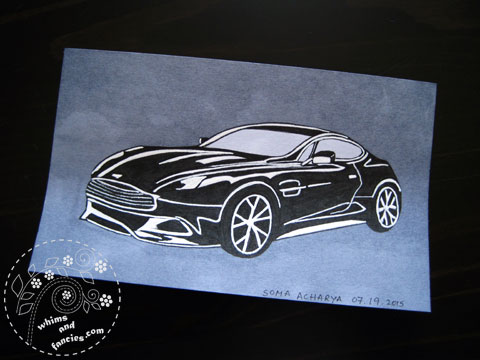 Icad 2015 - James Bond Aston Martin Painting | Whims And Fancies