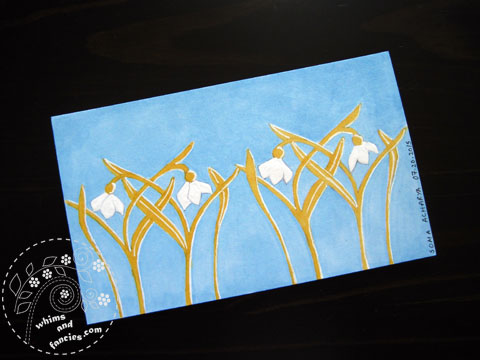 icad 2015 - Snowdrop flower painting | Whims And Fancies