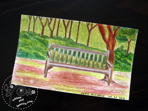 icad 2015 - Garden bench painting | Whims And Fancies