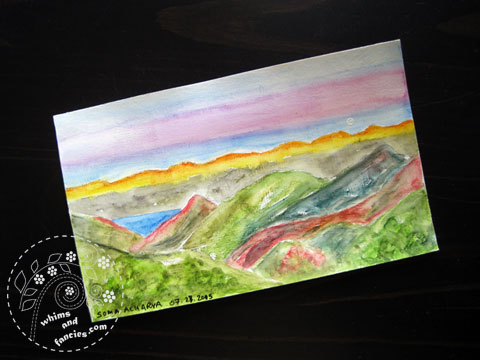 icad 2015 Sunrise Painting | Whims And Fancies