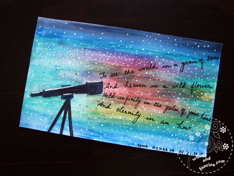icad 2015 Telescope, Stars And Blake Painting | Whims And Fancies