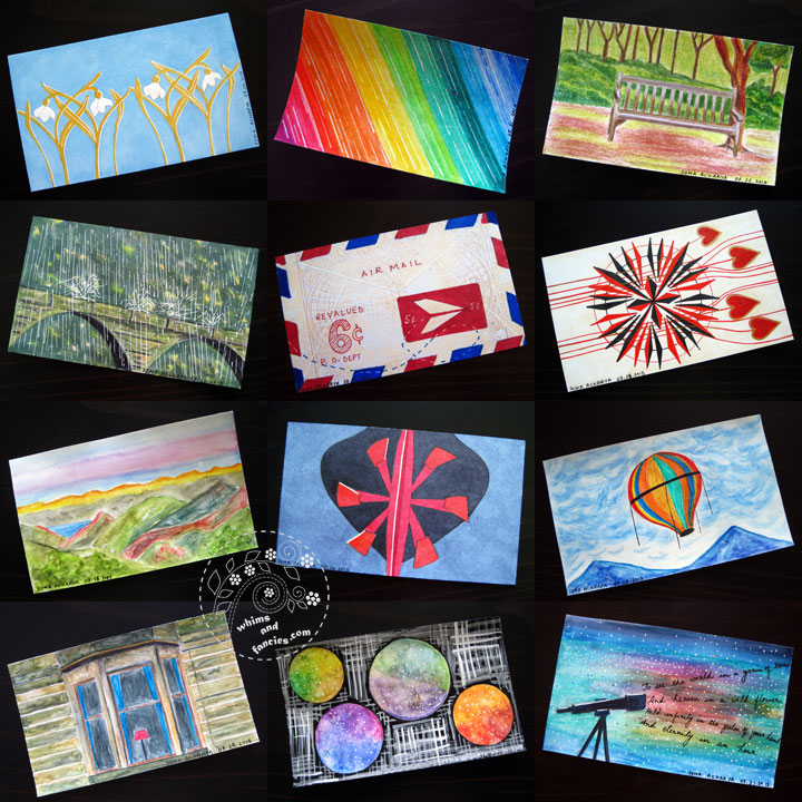 Index Card Paintings | Whims And Fancies