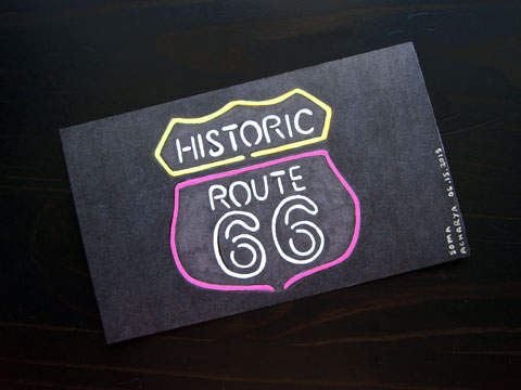 Icad 2015 - Route 66 Neo Sign | Whims And Fancies