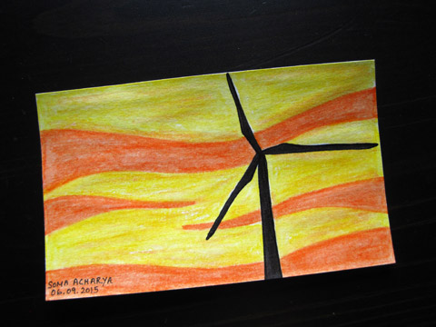 ICAD 2015 - Windmill sentinel against the sunset sky| Whims And Fancies