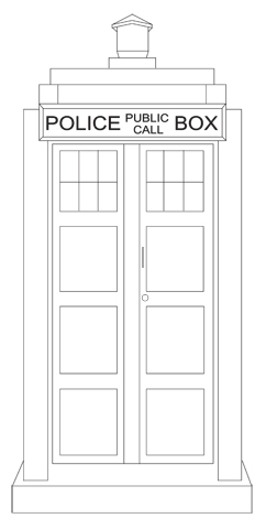 The Tardis     Embroidery Pattern   Whims And FanciesHow To Draw The Tardis Easy