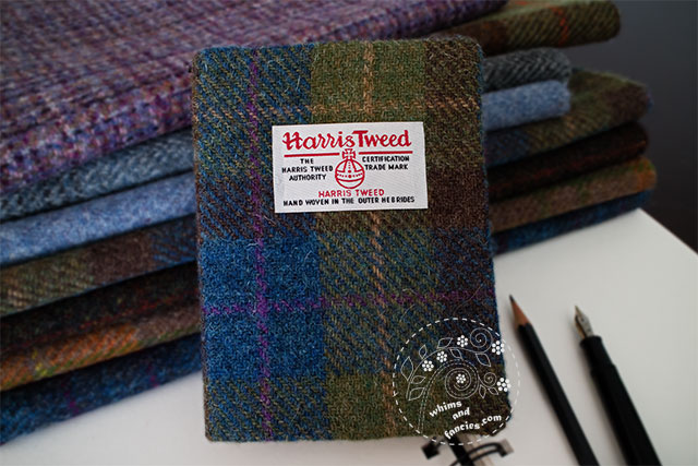 Harris Tweed Journal Notebook Cover | Whims And Fancies