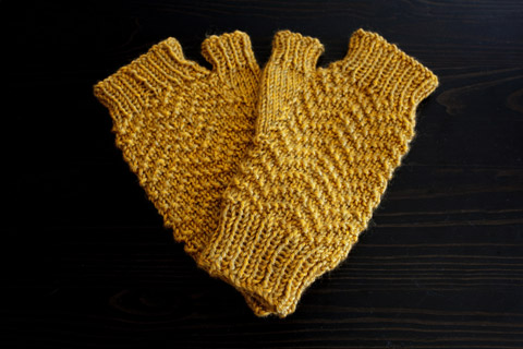Raw Honey Yellow Fingerless Mitts | Whims And Fancies