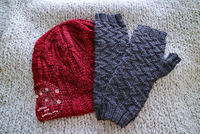 Hat And Fingerless Mitts Knitting Pattern | Whims And Fancies