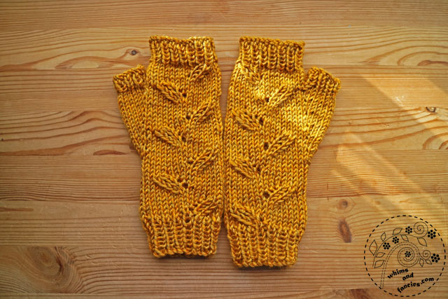 Yellow Knitted Mittens | Whims And Fancies