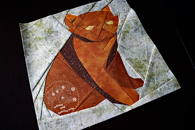 Orange Cat Quilt Pattern | Whims And Fancies