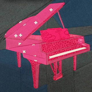 Piano Quilt Pattern. Block made by carwashcat101 | Whims And Fancies
