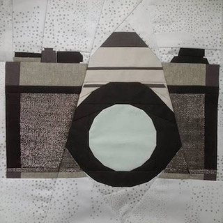 SLR Camera Quilt Pattern. Block made by scrapmaster01 | Whims And Fancies