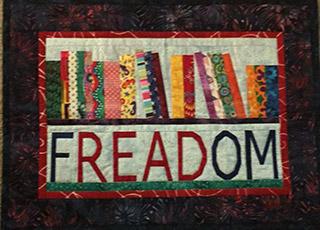 """Freedom Read Bookshelf Quilt Pattern"