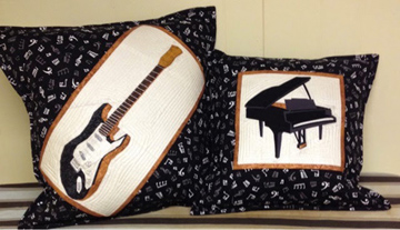 Guitar and Piano Musical Instruments Quilt Pattern
