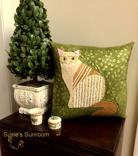 Striped Tabby Cat Quilt Pattern | Whims And Fancies