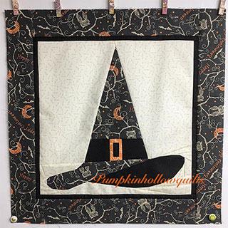 Halloween Witch Hat Quilt Pattern