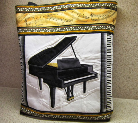 Quilted Bag Made With Piano Quilt Pattern