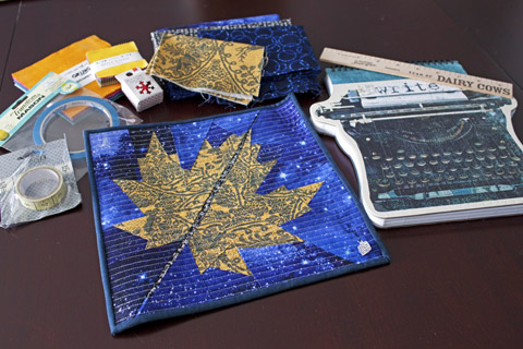 Maple Leaf Mini Quilt From Kris | Whims And Fancies