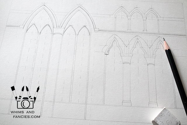 Gothic Architecture Drawing | Whims And Fancies
