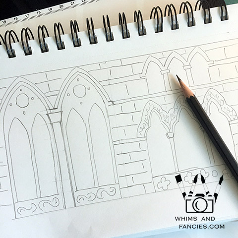 Gothich Architecture Drawing | Whims And Fancies