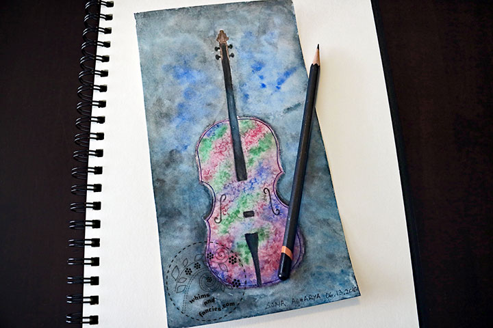Cello watercolour with Schemincke Horadam paint | Whims And Fancies