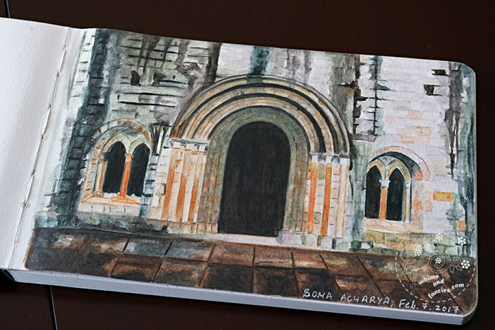 Dryburgh Abbey In Scotland with Derwent Watercolour Pencils | Whims And Fancies