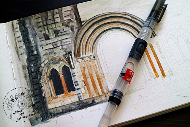 Dryburgh Abbey With Derwent Watercolour Pencils | Whims And Fancies