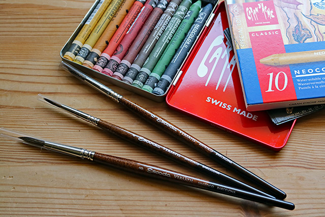 Neocolour II and Escoda Versatil Watercolour Brushes | Whims And Fancies