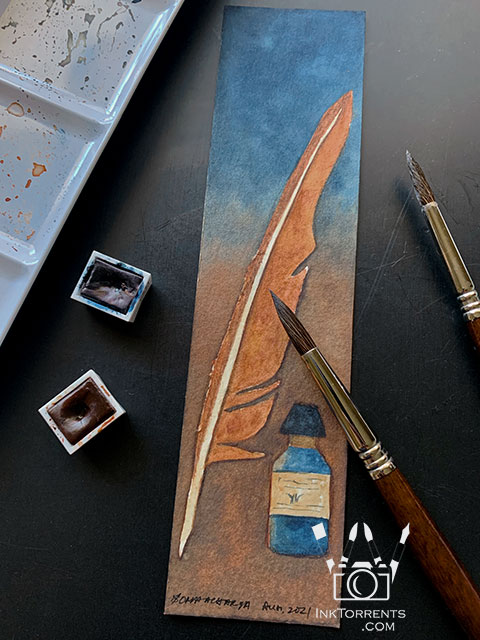 Quill feather bookmark @ inktorrents.com by Soma