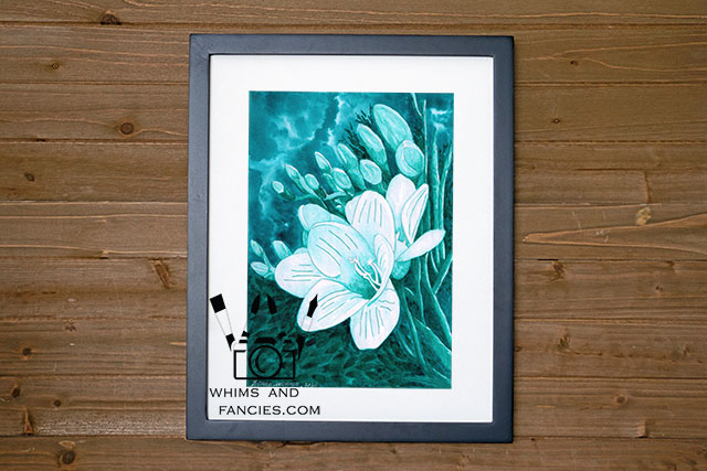 Flowers Of The Deep Sea Floral Art Print | whimsandfancies.com