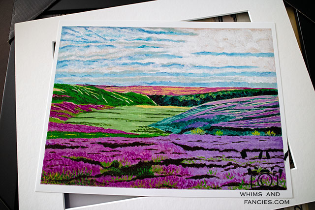 Heather In The Yorkshire Moor Painting | Whims And Fancies