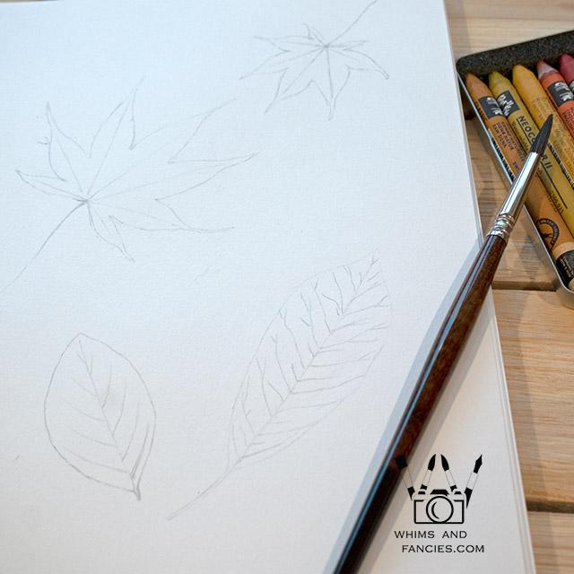 Falling Autumn Leaves art print InkTorrents Graphics Soma Acharya