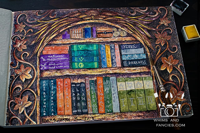 Magician's Bookshelf Painting | Whims And Fancies