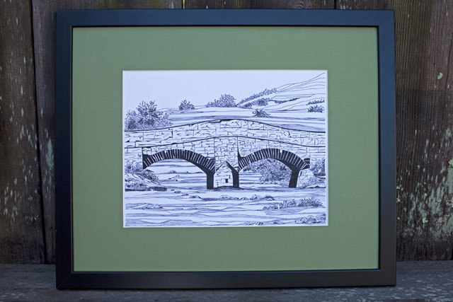 Stone Bridge, Mull, Scotland, Pen drawing | Whims And Fancies