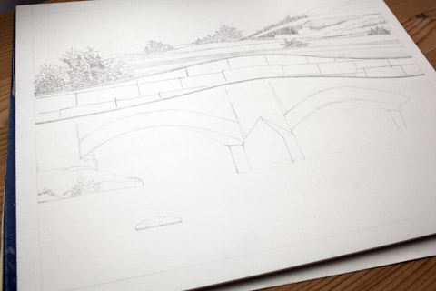Stone Bridge Drawing | Whims And Fancies