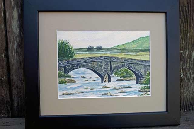 Stone Bridge, Mull, Scotland, Watercolour Painting | Whims And Fancies
