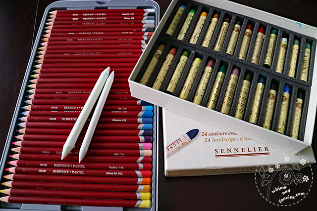 Sennelier Oil Pastel And Derwent Pastel Pencils | Whims And Fancies